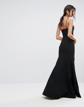 photo Right Now Full Length Gown Dress by C/meo Collective, color Black - Image 2