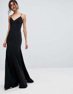 photo Right Now Full Length Gown Dress by C/meo Collective, color Black - Image 1