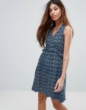 photo Sundress in Mini Tile Print by Yumi, color Navy - Image 1
