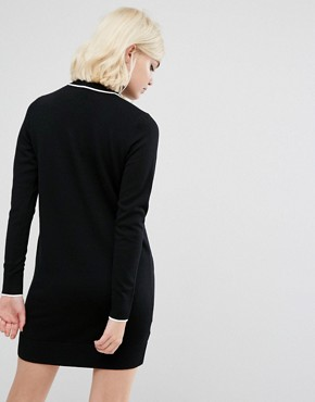 photo Knitted Polo Dress by Fred Perry, color Black - Image 2