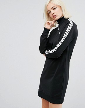 photo Retro Taped Tracksuit Dress by Fred Perry, color Black - Image 1