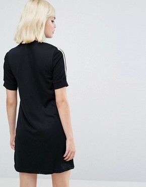 photo Zip Thru Knit Dress with High Neck by Fred Perry, color Black - Image 2