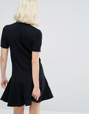 photo Peplum Pique Dress by Fred Perry, color Black - Image 2