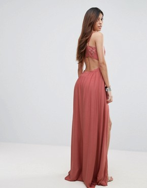 photo Desert Rose Maxi Dress by The Jetset Diaries, color Salmon - Image 2