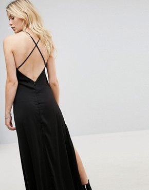 photo Ray Silk Blend Slip Dress by None the Richer, color Black - Image 2
