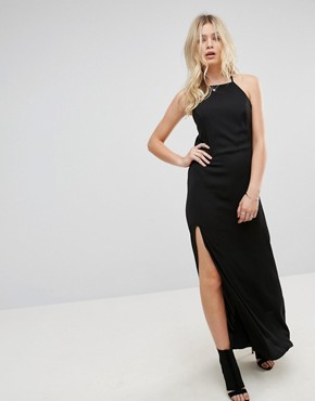 photo Ray Silk Blend Slip Dress by None the Richer, color Black - Image 1