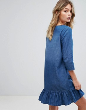 photo 3/4 Sleeve Dress Denim by JDY, color Medium Blue Denim - Image 2