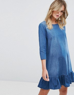 photo 3/4 Sleeve Dress Denim by JDY, color Medium Blue Denim - Image 1