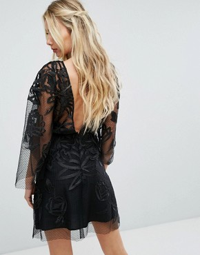 photo Exclusive Burning Lace Mini Dress by Stevie May, color Black - Image 2