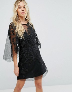 photo Exclusive Burning Lace Mini Dress by Stevie May, color Black - Image 1