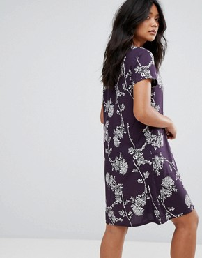 photo Button Through Floral Dress by JDY, color Navy - Image 2