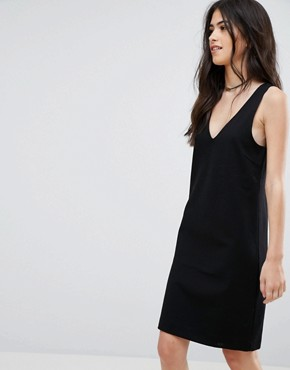 photo V-Neck Dress by Vila, color Black - Image 1