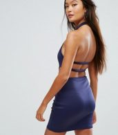 photo Cut Out Bodycon Dress by Glamorous, color Navy - Image 1