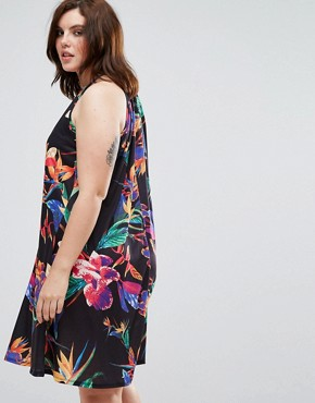 photo Swing Dress in Floral by Pink Clove, color Black Floral - Image 2