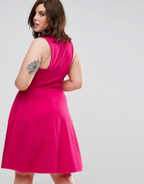 photo Skater Dress by Pink Clove, color Hot Pink - Image 2