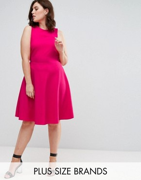 photo Skater Dress by Pink Clove, color Hot Pink - Image 1
