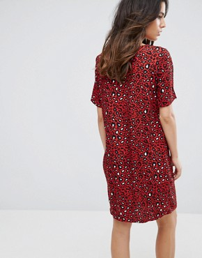 photo Leopard Print Dress by Vila, color Fiery Red - Image 2
