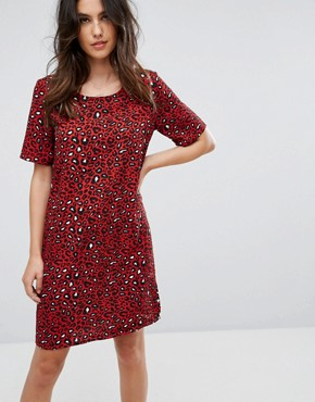 photo Leopard Print Dress by Vila, color Fiery Red - Image 1