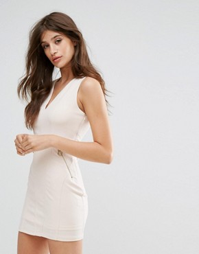 photo Dress with Lace Up Back by Oeuvre, color Apricot - Image 2