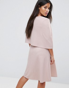 photo Swing Cape Dress by Bluebelle Maternity, color Taupe - Image 2