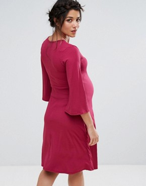 photo Swing Dress by Bluebelle Maternity, color Scarlet - Image 2