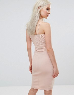 photo Wrap Front Ruched Dress by AX Paris, color Blush - Image 2