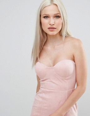 photo Suedette Bandeau Dress by AX Paris, color Pink - Image 3