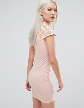 photo Dress with Lace Insert by AX Paris, color Pink - Image 2