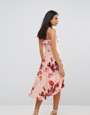 photo Floral Hi Lo Dress by Hope & Ivy, color Pink - Image 2