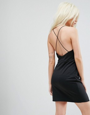 photo Double Split Mini Dress by ASOS PETITE, color Black - Image 2