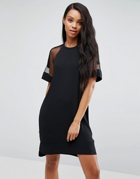 photo Mouton Mesh Sleeve Dress by Samsoe & Samsoe, color Black - Image 1