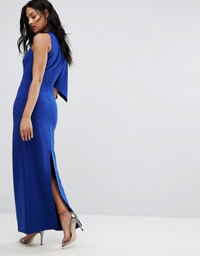 photo One Shoulder Structured Gown by AQ/AQ, color Cobalt - Image 2
