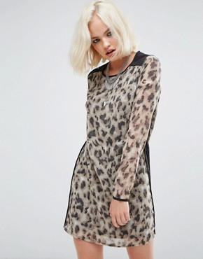 photo Off Beat Dress by Religion, color Fog/Black - Image 1