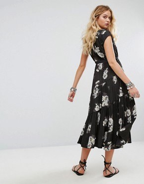 photo All I Got Maxi Dress in Floral Print by Free People, color Black Combo - Image 2