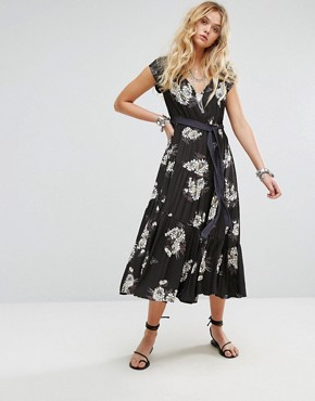 photo All I Got Maxi Dress in Floral Print by Free People, color Black Combo - Image 1