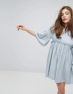 photo Relaxed Smock Dress in Summer Print by Willow and Paige, color Multi - Image 1