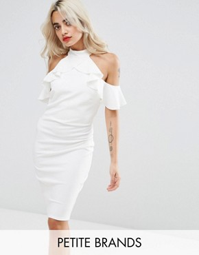 Pencil Dress With Ruffle Detail - Rose City Goddess Petite zaOBJQrj