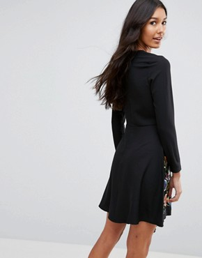 photo Pretty Embroidered Skater Dress by ASOS TALL, color Multi - Image 2