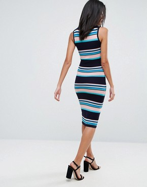 photo Stripe Midi Dress by A State Of Being, color Stripe - Image 2