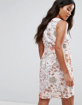 photo Eastern Blossom Tea Dress by New Look Maternity, color Pink Pattern - Image 2
