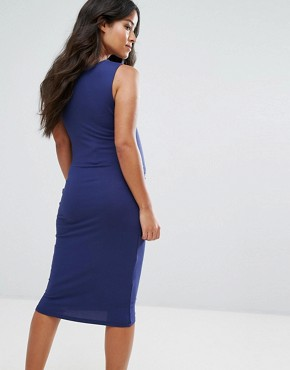 photo Side Detail Dress by New Look Maternity, color Navy - Image 2