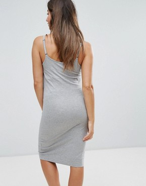 photo Cami Dress by New Look Maternity, color Mid Grey - Image 2