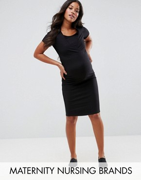 photo Dress by New Look Maternity Nursing, color Black - Image 1