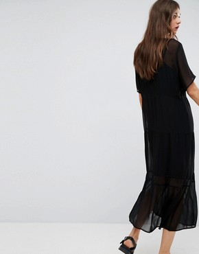 photo Ayo Sheer Lace Maxi Dress by Gestuz, color Black - Image 2