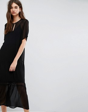 photo Ayo Sheer Lace Maxi Dress by Gestuz, color Black - Image 1