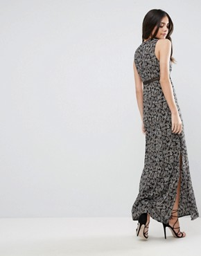 photo See You At Dawn Daisy Printed Maxi Dress with Lace Inserts by WYLDR, color Multi - Image 2