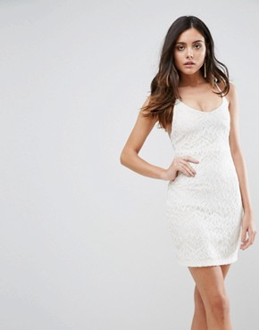 photo Hands Down Lace Dress with Cut Out Back by WYLDR, color Ivory - Image 2