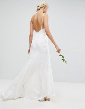 photo Cami Maxi Dress with Panelled Seam Details by ASOS BRIDAL, color White - Image 2