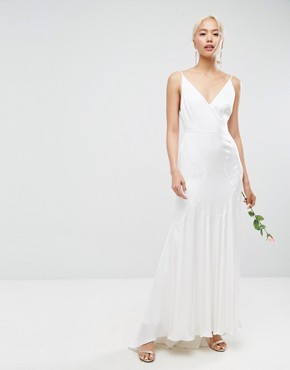 photo Cami Maxi Dress with Panelled Seam Details by ASOS BRIDAL, color White - Image 1