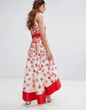 photo Charron Organza Dress by Coast, color Red - Image 2